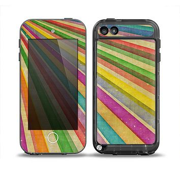 The Vintage Downward Ray of Colors Skin for the iPod Touch 5th Generation frē LifeProof Case