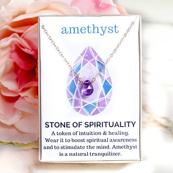 Amethyst Healing Jewel Necklace
