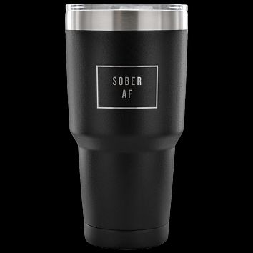 Sober AF Tumbler Double Wall Vacuum Insulated Hot & Cold Travel Cup 30oz BPA Free