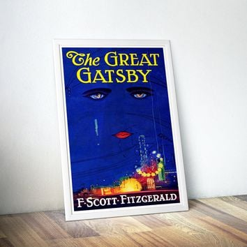 Great Gatsby Poster, The Great Gatsby Print - Best Selling Items / Book Lover Gift / Literary Gifts / Gift for Her / Book Lover Art