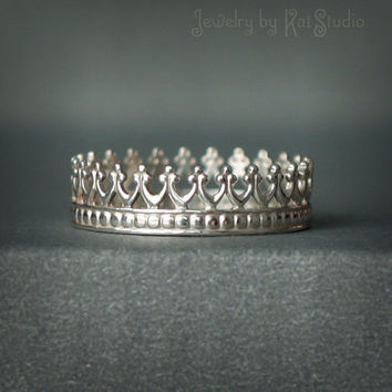 Crown ring for Queen - sterling silver 925 - gift box