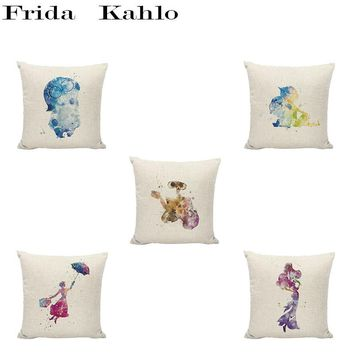 Warm Cartoon Pattern Cushion Set 45*45 CM Cute Robot Princess Dinosaur Ninja Turtle Castle Warm Style Pillowcase Home Decoration