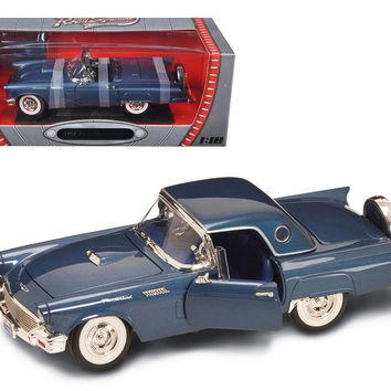 1957 Ford Thunderbird Blue 1-18 Diecast Model Car by Road Signature
