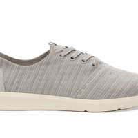 TOMS Vapor Grey Striped Linen Men's Viaje Sneakers Grey