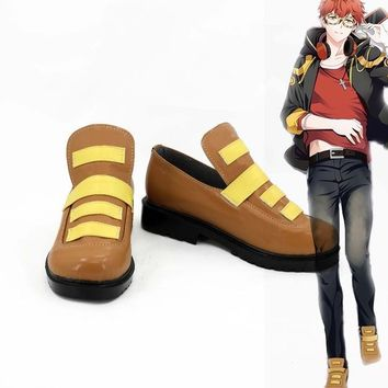 Mystery messenger hero cosplay costume lolita unisex punk  party shoes halloween boots