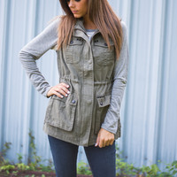 All's Fair In Love Vest, Olive