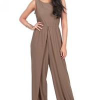 GWEN - Sleeveless Slimming Flared Pant Summer Jumpsuit Romper