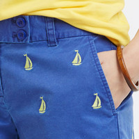 Sailboat Embroidered Dayboat Shorts