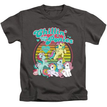 My Little Pony Boys T-Shirt Chillin with my Ponies Charcoal Tee