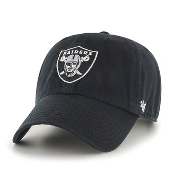 Oakland Raiders Clean Up Adjustable Hat by 47 Brand