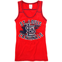 St. Louis Cardinals Women's Glitter Jersey Tank by 5th & Ocean