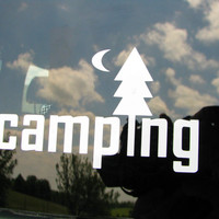 Camping. Hiking. Vinyl graphic decal.  Bumper Sticker. Car decal.  Hiking. Campground. Vacation. Camping.  Camping gear. Camping decor.