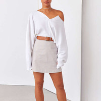 Kimchi Blue Riki Ribbed Cropped Top   Urban Outfitters
