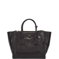 Glace Calf Twin Pocket Tote Bag, Black (Nero) - Prada