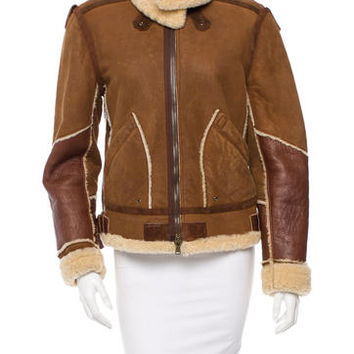 Donna Karan Shearling Leather Jacket