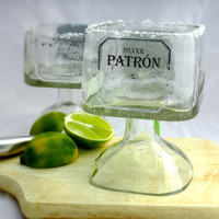 Patron Tequila Bottle Margarita Drinking Glass - Large 750ml -