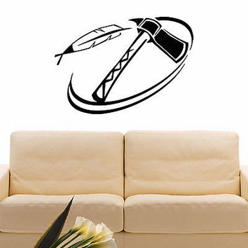 WALL DECAL VINYL STICKER PEOPLE NATIVE AMERICAN INDIAN TRIBAL DECOR SB945