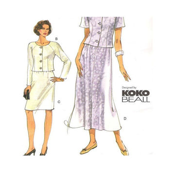 Uncut Very Easy Vogue Pattern 7015  Koko Beall- Misses Top and  Skirt Size 8 10 12