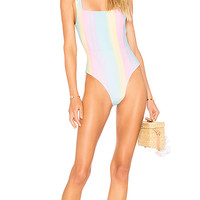 Tularosa Karmen One Piece in Pastel Rainbow | REVOLVE