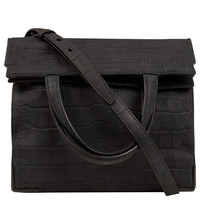 Alexander Wang Dark Grey Prisma Skeletal Lunch Croc Embossed Leather Bag | Handbags by Alexander Wang | Liberty.co.uk