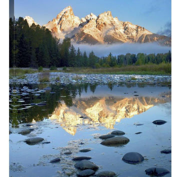 Teton Range Reflected in Water