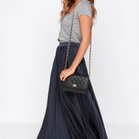 Back in a Minute Navy Blue Maxi Skirt