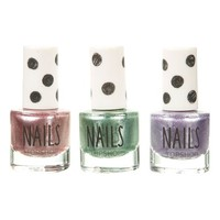 Topshop 'Princess Metal' Nail Polish Trio