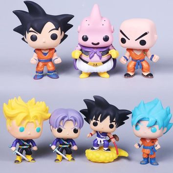 2018 Dragon Ball Toy Son Goku Action Figure Anime Super Vegeta POP Model Doll Pvc Collection Toys For Children Christmas Gifts