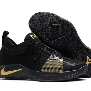 Nike Zoom PG 2 EP Black/Gold Basketball Shoes US 7-12