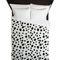Duvet Cover - Dalmatian Print - Dalmatian - Duvet - Black and White Duvet Cover - Girls Duvet Cover - Teen Bedding - Teen Duvet - Gift Ideas