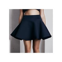 'Calypso' Full Skirt - French Navy