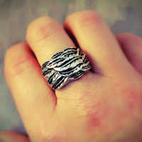 Cluster of Feathers Ring