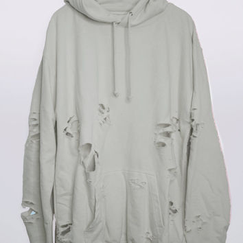 Moonrock Hand Distressed Oversized Hoodie