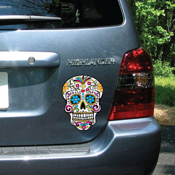 FREE SHIPPING Day of the Dead (Día de los muertos) - Custom Car/Wall Decal - FULL Color