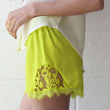 Hit the Lights Lime Shorts