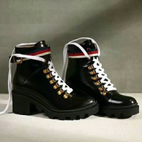 Gucci Fashion trending Women Shoes Waterproof Martin Boots 2 Style G-GCXGCFH-GC