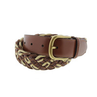 Tommy Bahama Mens Leather Braided Casual Belt