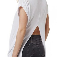 Topshop Split Back High/Low Tee | Nordstrom