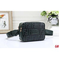 FENDI New Fashion couple more letter leather purse waist bag crossbody single-shoulder bag 6#