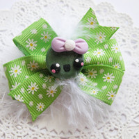Baby Hair Bow KawaiI Pea Girl Hair Bow for Babies Girls Teens and Adults Kawaii Fashion