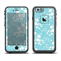 The Vintage Hawaiian Floral Apple iPhone 6/6s Plus LifeProof Fre Case Skin Set