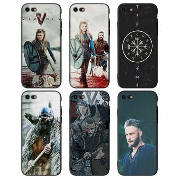 Vikings TV show Soft Silicone Black Cellphone Cases for Apple iPhone X 7 8 Plus 6Plus 5 5S SE 6 6s