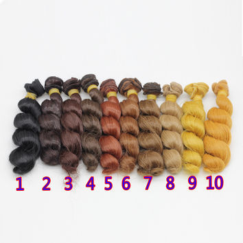 1pcs 15x100cm DIY Curly Wavy Wig Hair for 1 3 1 4 1 6 BJD SD Dolls