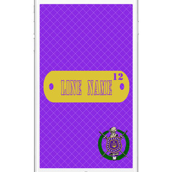 Omega Psi Phi iPhone or Samsung Galaxy Wallpaper, Personalized iphone lockscreen - Cell Phone Background Lock Screen