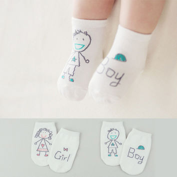 Baby Cartoon Anti-slip Cotton Socks Unisex Toddler Socks Floor Sock Infant Boys Girls Cat Skid Resistance Leg Warmers
