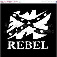 Rebel Flag Vinyl Decal - Rebel Flag - Vinyl Decal - Permanent Vinyl Decal - Window Decal