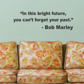 Bob Marley In This Bright Future Decal Quote Sticker Wall Vinyl Art Decor