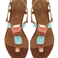 ALDO | ALDO Kallole Tan Jewelled Toepost Sandals at ASOS