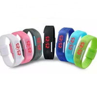 New Arrival Candy Color Jelly Gel Sports Watches Rubber belt silicone bracelets LED Touch Wrist watches