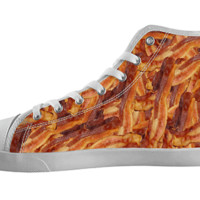 Bacon Pattern High Top Shoes